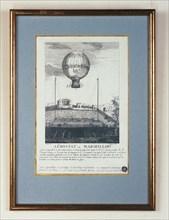 """Aérostat """"Le Marseillois"""" enlevé à Marseille le 8 mai 1784"""