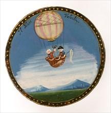 Il Polante Volante : Miniature dans le goût des gouaches napolitaines