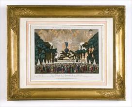 Vue Brillante de l'anniversaire du 14 juillet 1801
