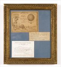 Cartons d'invitation pour voir le ballon captif du Trocadéro