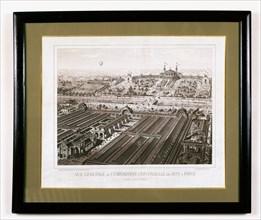 Vue générale de l'exposition universelle de 1878 à Paris