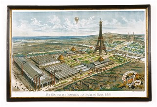 General view of the 1889 World Fair in Paris