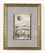 Aerostatic experiment at the Champs de Mars on 27th August 1783