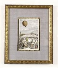 Expérience aérostatique au Champs de Mars le 27 août 1783
