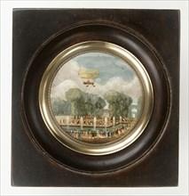 """Expérience de l'aérostat """"La Caroline"""" à Saint-Cloud le 15 juillet 1784"""