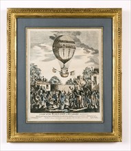 View of Mr Sadler's balloon ascent on 12th August 1811 in Hackney