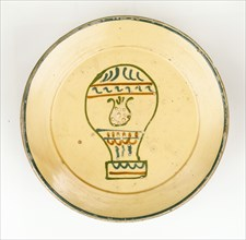 Plate with hot-air balloon design