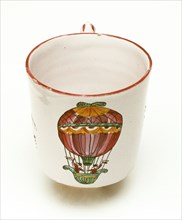 Cup with design marking Charles and Robert's first ascent on 1st December 1783