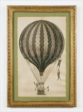 Affiche représentant une montgolfière à air chaud