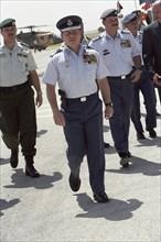 Intégration des officiers en présence du roi Abdallah II de Jordanie, juillet 2004