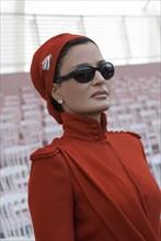 Son altesse Sheikha Mozah assistent à la fête nationale française