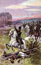 Napoléon 1er : bataille de Leipzig. Campagne de Saxe. 16-18 octobre 1813