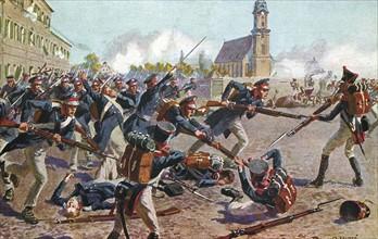 Bataille de Leipzig. Campagne de Saxe. 16-18 octobre 1813