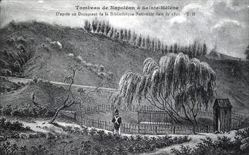 Tombeau de Napoléon 1er à Sainte-Hélène. 5 mai 1821