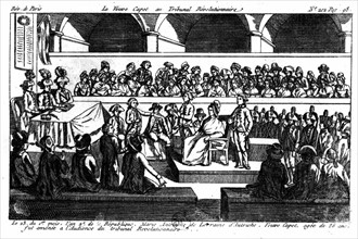Marie-Antoinette à l'audience du tribunal révolutionnaire