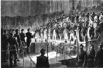Commune de Paris. 3ème Conseil de guerre de Versailles. Lecture du verdict aux accusés.