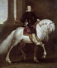 Crayer, Portrait équestre de Philippe IV