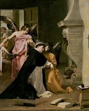 Velázquez, The temptation of St. Thomas Aquinas