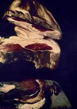 Martinez del Mazo, Nature morte (détail morceau de jambon et colombe)