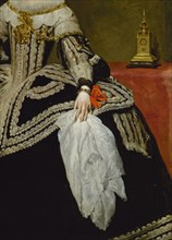 Vélasquez, La Reine Marie-Anne d'Autriche (détail)