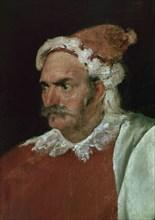Velázquez, The Buffoon Don Cristobal de Castañeda y Pernía (detail)