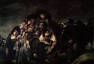 Goya, Le pélerinage de Saint Isidro (détail)