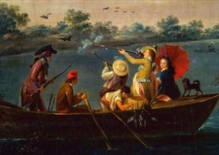 Carnicero, Chasse aux canards dans le marécage