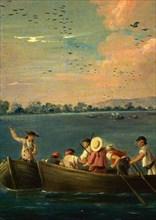 Carnicero, Chasse aux canards dans les marécages