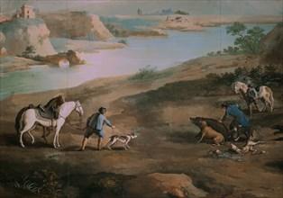 Velasquez, Le roi Charles IV et Godoy lors d'une partie de chasse