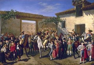 Castellanos, Cour avec chevaux sur l'ancienne plaza de Toros de Madrid