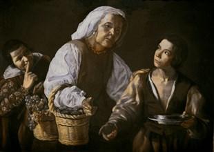 Velázquez, The old fruit merchant