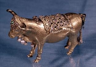 Taureau ibérique en or