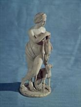 Diana, figurine de marbre