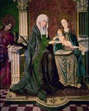 La Vierge et l'enfant, Saint Jean l'Evangéliste et Sainte Anne