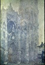Monet, La cathédrale de Rouen. Le portail et la tour Saint-Romain, effet du matin