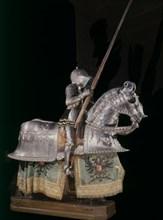 Armure de joute de Charles V sur un cheval