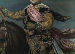 Velázquez, Equestrian Portrait of Prince Balthasar Charles (detail)