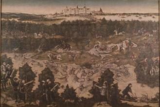 Cranach l'Ancien, Partie de chasse en l'honneur de Charles V au château de Torgau