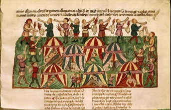 Bible d'Albe, Victoire de Gédéon sur les Madianites