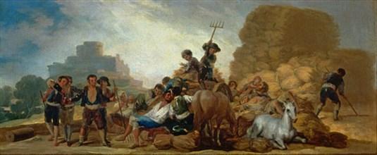 Goya, La Moisson ou l'Eté