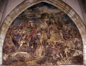 Rethel, Fresque avec scènes de la vie de Charlemagne