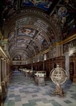 Vue de la bibliothèque de l'Escurial