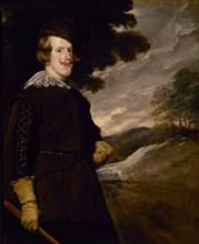 Velázquez, Felipe IV in Hunting Dress (detail)
