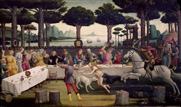 Botticelli, Histoire de Nastagio degli Onesti (tableau III)