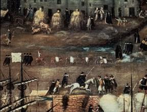 Attribué à Sanchez Coello, Vue de Séville (détail)
