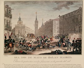 2 mai 1808, bataille avec les Français à la Puerta del Sol