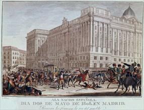 Enguinados, Deux mai 1808, les Français provoquent la colère du peuple