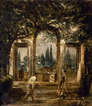 Vélasquez, Vue des jardins de la Villa Médicis à Rome