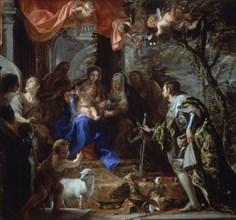Coello, La Vièrge et l'Enfant adorés par Saint Louis Roi de France