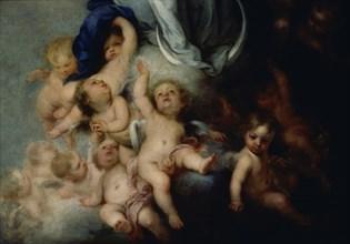 Murillo, L'Immaculée de Soult - Détail des anges